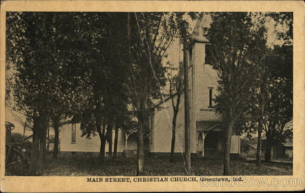 Main Street, Christian Church Greentown Indiana