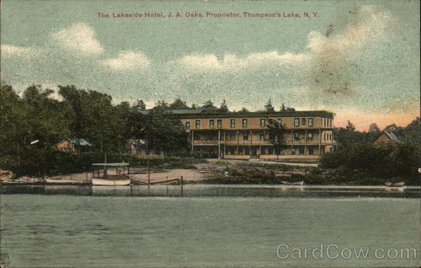 The Lakeside Hotel, Thompson's Lake East Berne New York