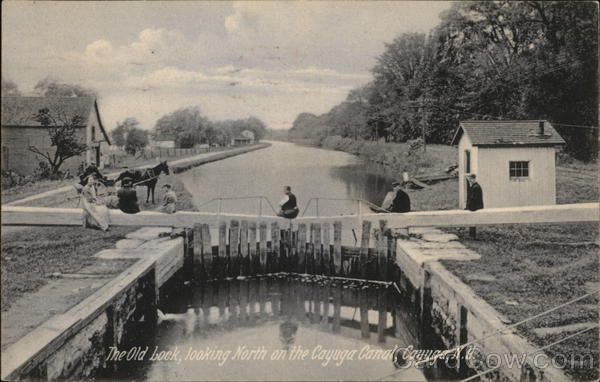 The Old Lock looking North on the Cayuga Canal New York