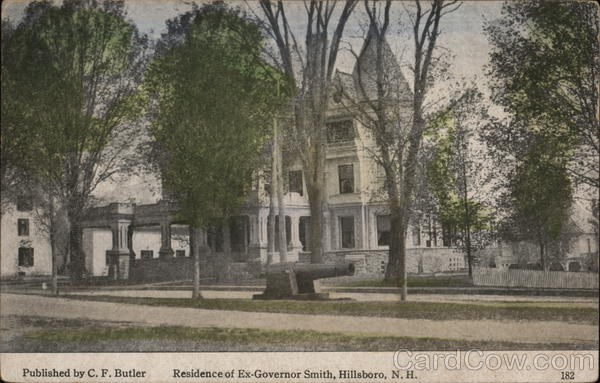 Residence of Ex-Governor Smith Hillsboro New Hampshire