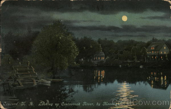 Contoocook River by Moonlight Concord New Hampshire