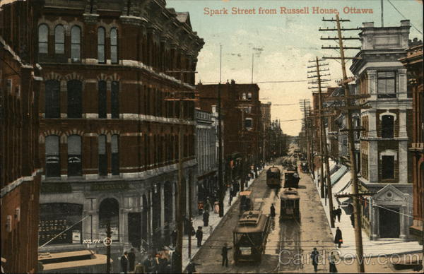 Spark Street From Russell House Ottawa Canada Ontario