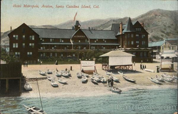 Hotel Metropol  Avalon Santa Catalina Island  Ca Postcard