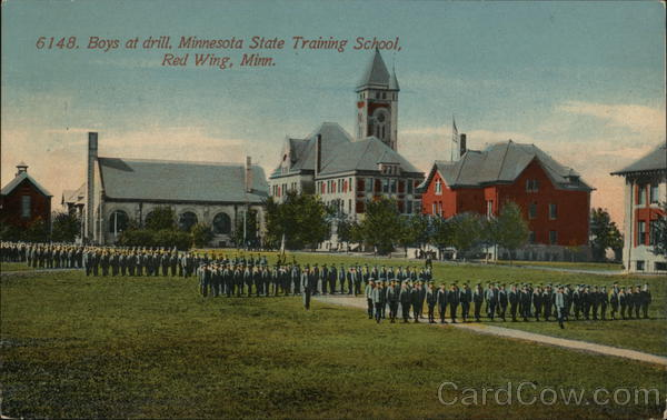 Boys at Drill, Minnesota State Training School Red Wing