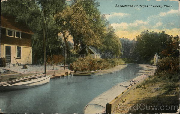 Lagoon and Cottages at Rocky River Ohio