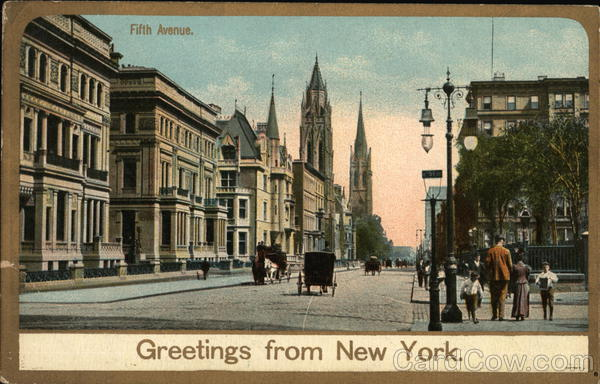 Greetings From New York's Fifth Avenue New York City
