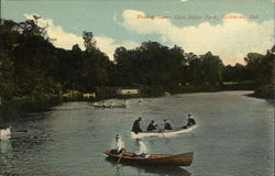 Boating Scene at Glen Miller Park Postcard