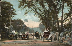 Automobile Party at Entrance to Riverton Park
