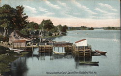 Norwoods Wharf and Saco River