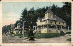 Encampment Headquarters at Weirs Lake Postcard