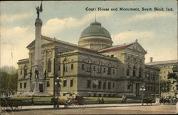 Court House and Monument Postcard