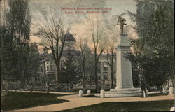 Soldier's Monument and County Court House