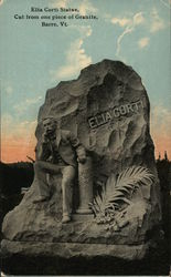 Elia Corti Statue, Cut Frome One Piece of Granite