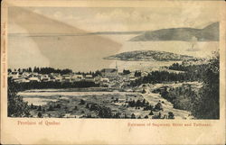 Entrance of Saguenay River and View of Town