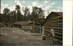 A Maine Logging Camp