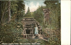 "Maine Logging Camp - The Cook at the ""Bean-Hole"""