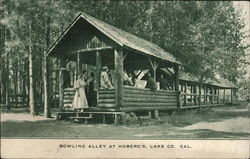 Bowling Alley at Hoberg's Postcard