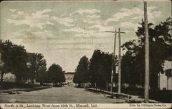 North A St., Looking West From 16th St. Postcard