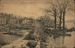 North on Linden Ave. During Great Flood 1913