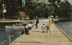Dock at Canadarago Lake Postcard