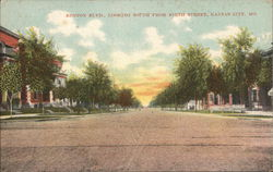Benton Blvd. Looking South from Ninth Street