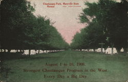 Chautauqua Park, Maryville State Normal Postcard