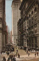 Wall Street Showing Trinity Church in Distance