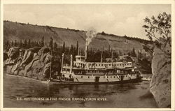 S.S. Whitehorse in Five Finger Rapids, Yukon River