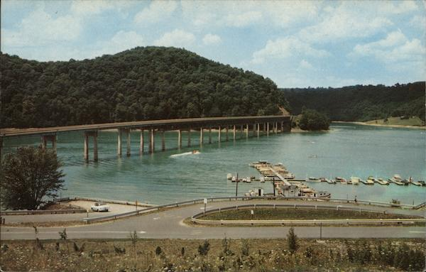 Youghiogheny Reservoir and Bridge Somerfield Pennsylvania