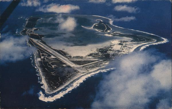 Aerial View of Wake Island South Pacific
