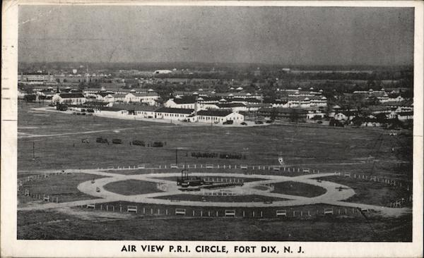Air View P.R.I. Circle Fort Dix New Jersey