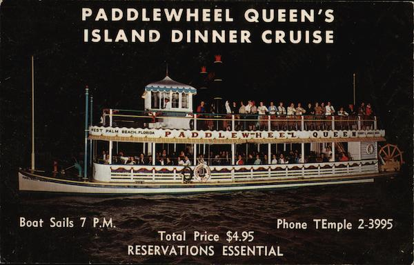 Paddlewheel Queen's Island Dinner Cruise West Palm Beach Florida