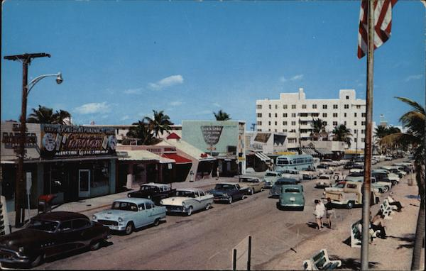 South Atlantic Boulevard, Looking North From Las Olas Fort Lauderdale Florida