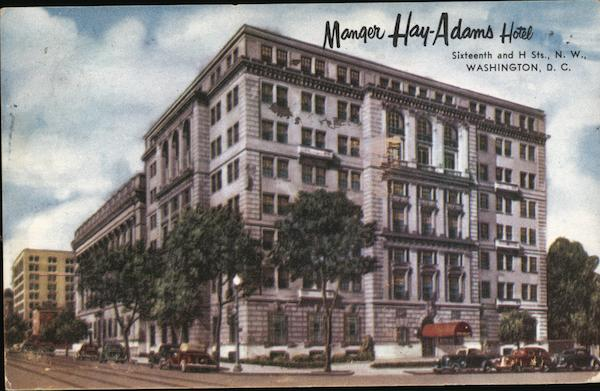 Manger Hay-Adams Hotel Washington District of Columbia