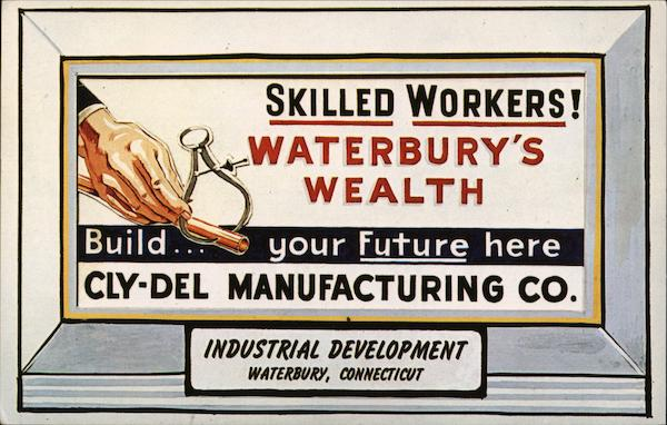 Cly-Del Manufacturin Waterbury Connecticut Advertising