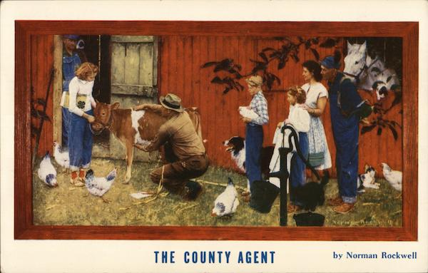 The County Agent by Norman Rockwell Advertising