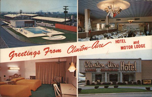 Greetings From Clinton-Aire Hotel and Motor Lodge Buffalo New York