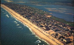 Aerial View of Ocean City Postcard