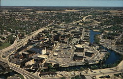 Aerial View Looking Northeast Showing Business District and the Wicomico River