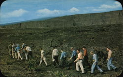 Exploring the Floor of Kilauea Postcard