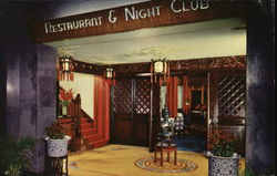 Entrance to the Hotel Miramar Night Club Postcard