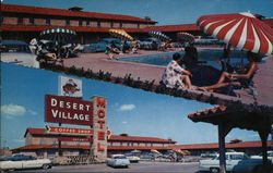 The Beautiful, New Desert Village Motel Postcard