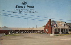 Bailey's Motel Harrodsburg, KY Postcard