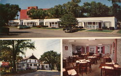 Elms Motor Court and Dining Room Postcard