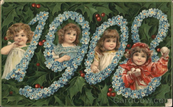 1908 All Happiness in the New Year Children