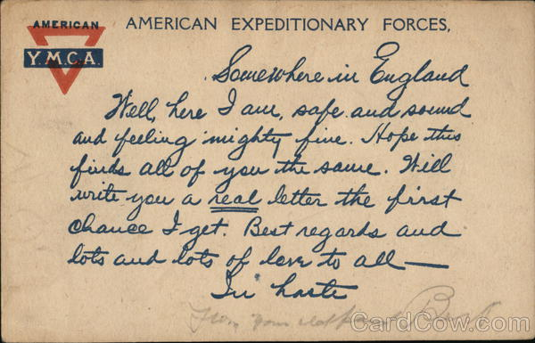American Expeditionary Forces YMCA Military
