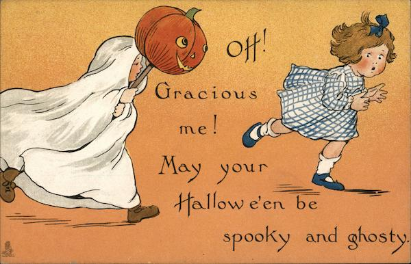 Oh! Gracious me! May your Halloween be spooky and ghosty.