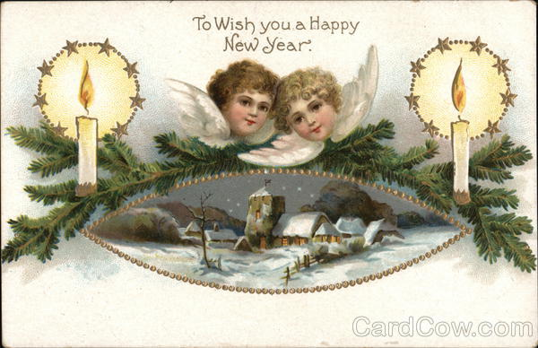 To Wish You a Happy New Year Angels & Cherubs