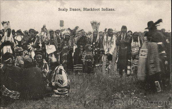 Scalp Dance, Blackfoot Indians Native Americana