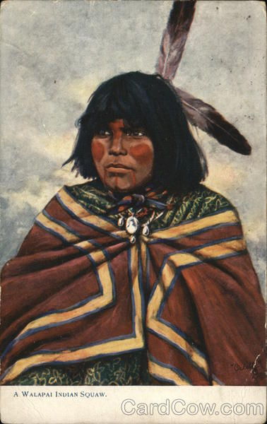 A Walapai Indian Squaw Oilette Native Americana